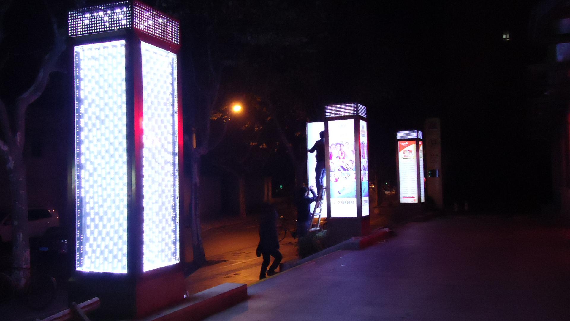 上海户外立柱灯箱媒体广告