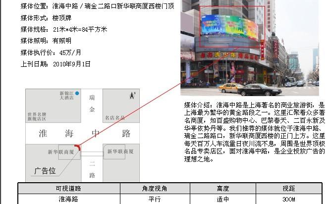 上海户外显示屏媒体广告
