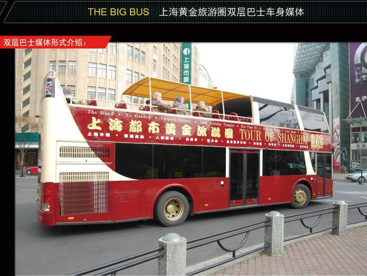 城市观光旅游双层巴士媒体广告